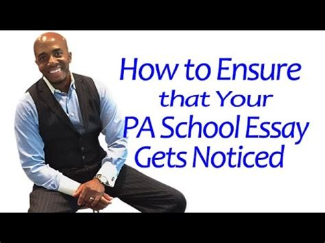 Professional PA School Personal Statement Samples